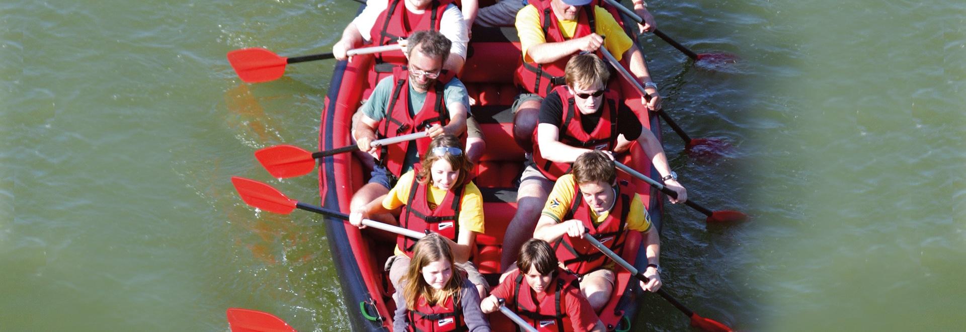 Canoa gonfiabile del gruppo per fino a 10 persone