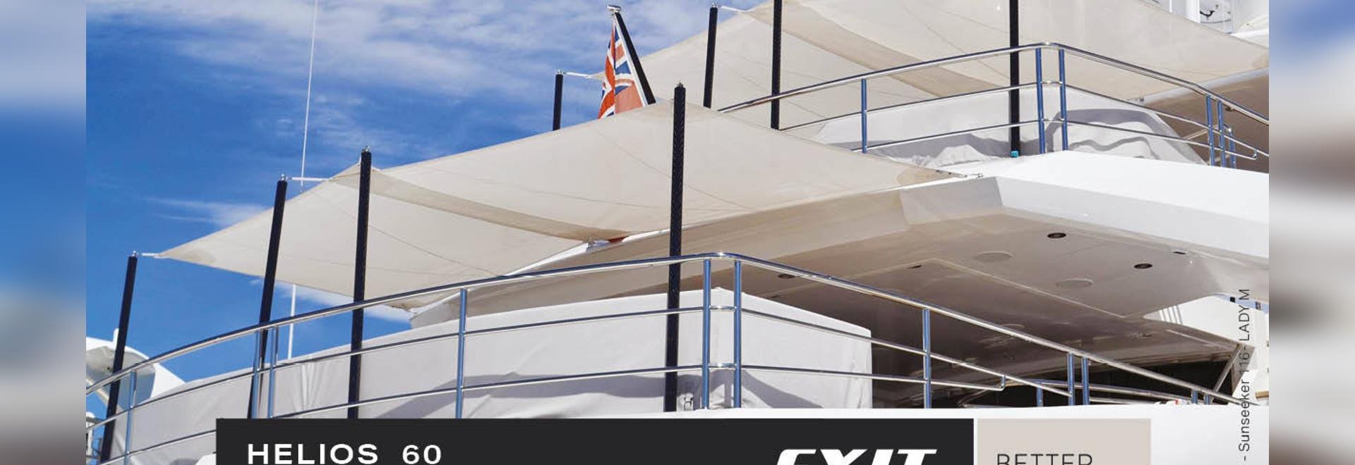 Helios 60, i pali per tende da sole in carbonio progettati per barche medio-grandi