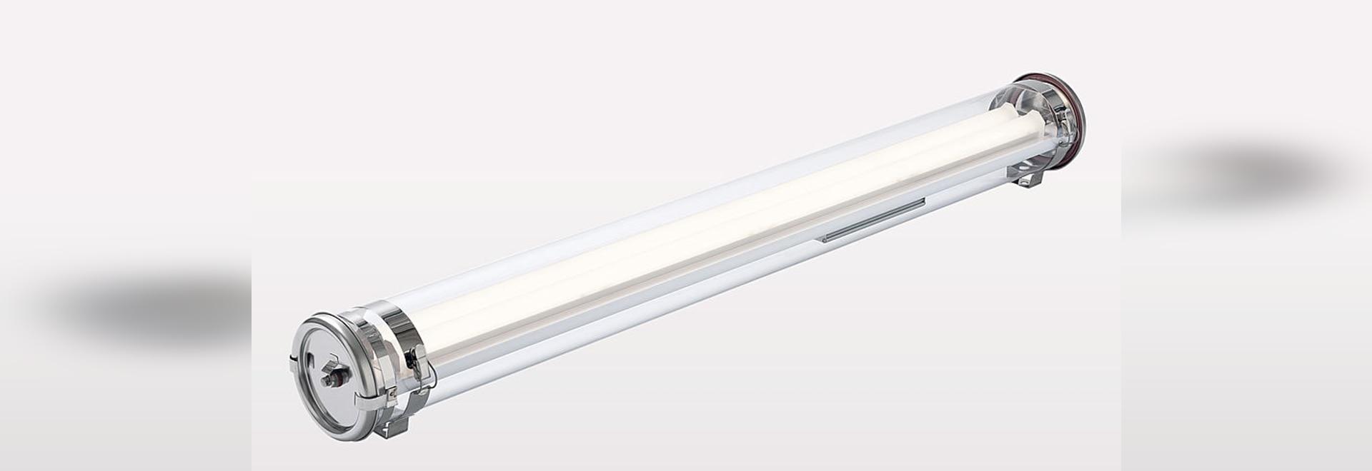 HUTTON 133, la soluzione di illuminazione per ATEX suddivide in zone 2, 21 e 22 giù -40 a ° C