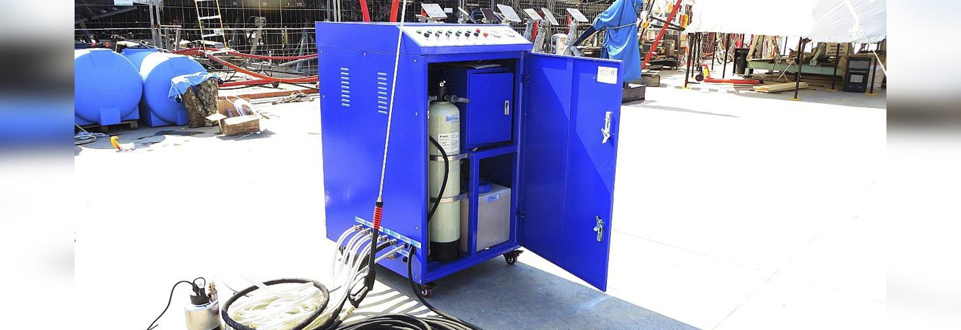 Idropulitrice con sistema di trattamento acque integrato a circuito chiuso