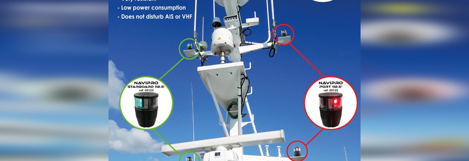Luce di navigazione a led certificata Navipro