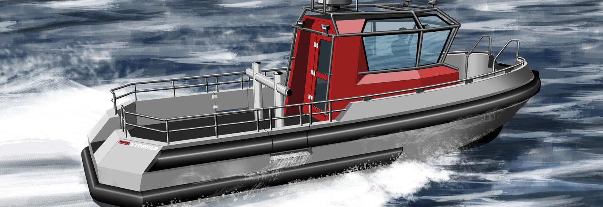NUOVO: barca di alluminio di servizio da Stormer Marine B.V.