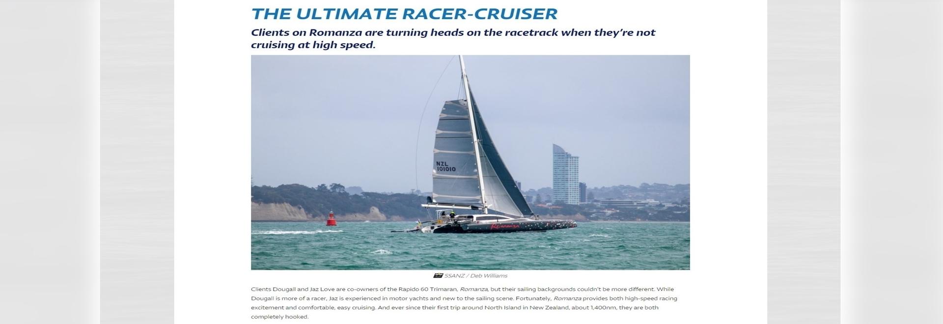 Rapido 60 è l'Ultimate Racer-Cruiser, urla il titolo North Sails!