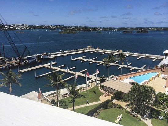La principessa Hotel Marina di Fairmont in Bermude è in costruzione