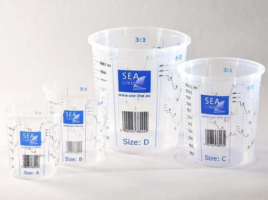 Di tazze di misura linei marina