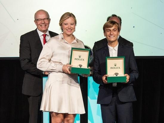 Marco Gradoni diventa il più giovane Rolex World Sailor dell'anno; Anne-Marie Rindom riceve l'onore femminile