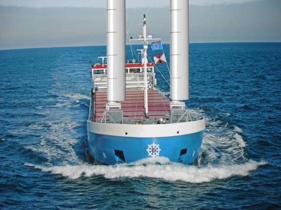 Primo viaggio per nave equipaggiata con sistema di assistenza al vento Ventifoil