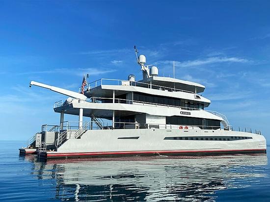 Primo sguardo: Metal Shark completa 48m spedizione catamarano magnete di spedizione