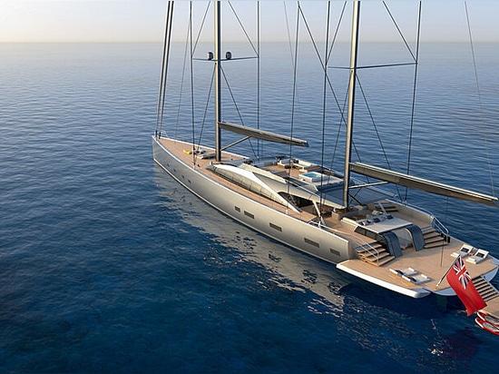 Dixon Yacht Design crea un concetto di yacht a vela ibrido di 55 metri: Progetto 175