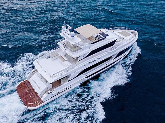Varato il primo yacht Horizon FD92 Crowned Eagle