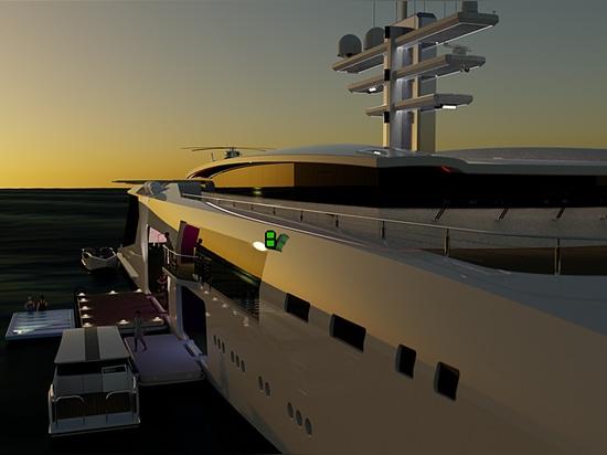 Serie ibrida di yacht di supporto di nuova generazione di 70m+ rilasciata da Nick Stark