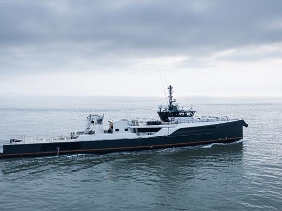 Damen Yachting YS 5009 Blue Ocean trasformato in nave di supporto alla Gene Machine