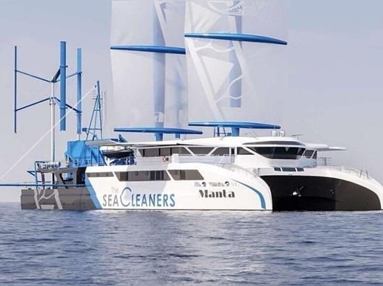 'Manta': una barca a vela gigante all'attacco dell'inquinamento plastico oceanico