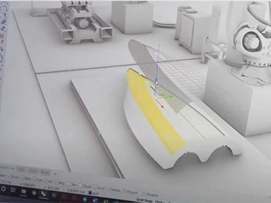 Modellazione 3D degli strati sfaccettati del prodotto ancora dal video