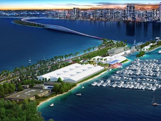 L'esposizione internazionale della barca di Miami rivela il nuovo piano generale dei trasporti per il parco & il bacino marini dello stadio di Miami
