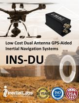 INS-DU — Low Cost Dual Antenna GNSS-Aided Inertial Navigation System with uBlox GNSS receiver and miniAHRS