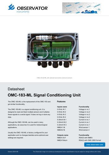 OMC-183-ML Signal Conditioning Unit