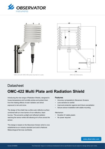OMC-422 Multi Plate anti Radiation Shield