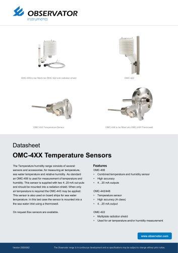 OMC-4XX Temperature Sensors