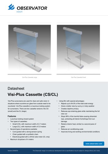 Visi-Plus Cassette (CS/CL)