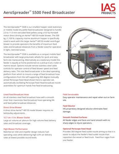 AeroSpreader™ S500 Feed Broadcaster