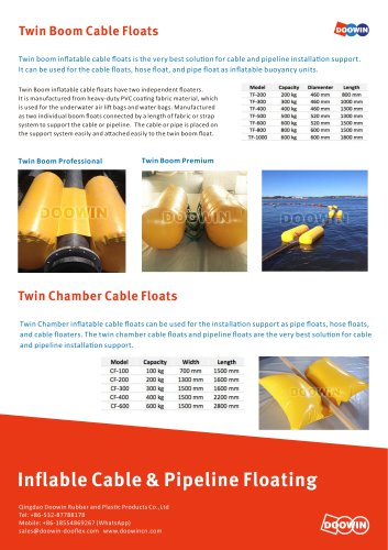 Inflatable Cable Floats