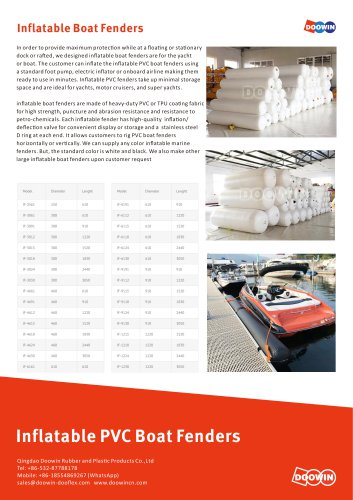 Inflatable PVC Boat Fenders