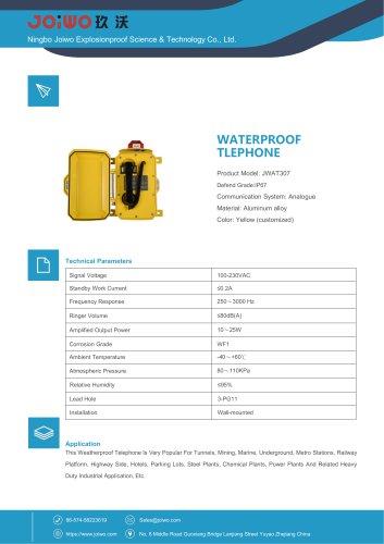 waterproof telephone with warning light
