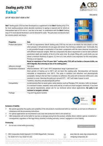 TDS FAKO-CBG 3765 Sealing putty