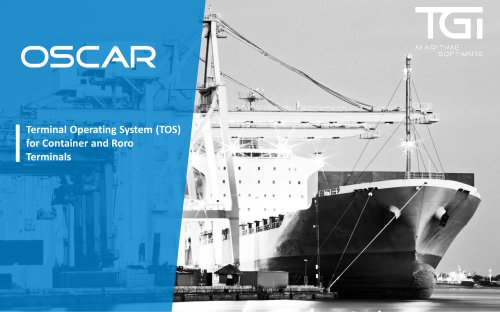 OSCAR Terminal Operating System (TOS) for Container and Roro Terminals