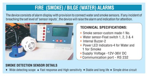 BILGE AND SMOKE ALARMS