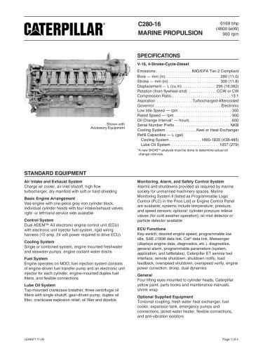 Cat C280-16 Spec Sheets