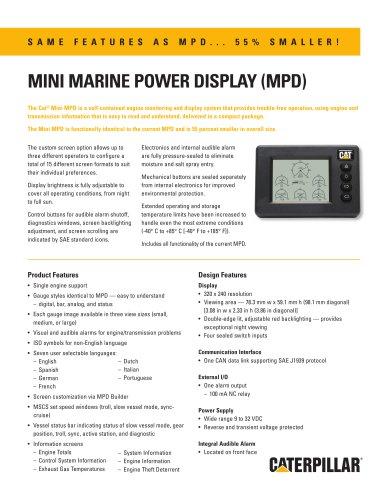 MINI MARINE POWER DISPLAY (MPD)