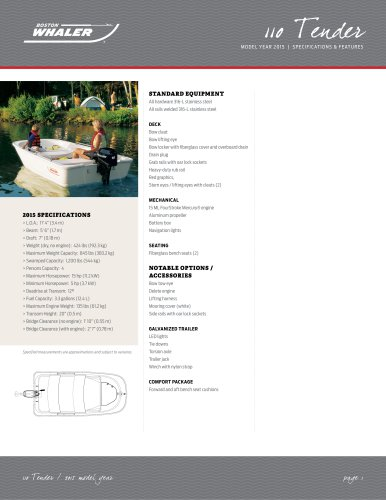 110 Tender Specifications - 2015