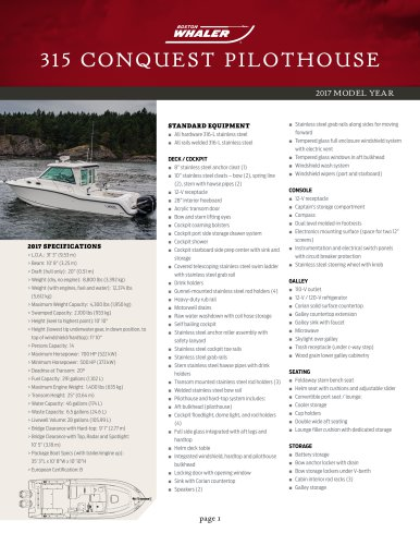 315 CONQUEST PILOTHOUSE