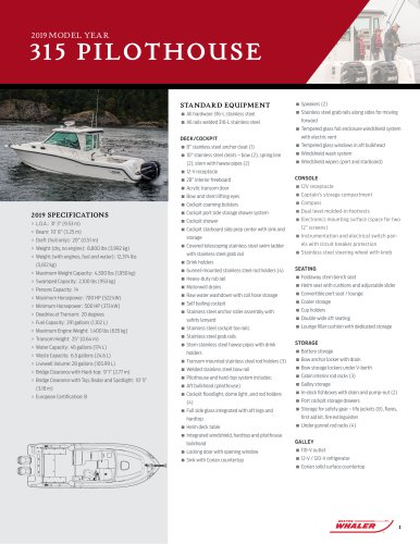 315 Conquest Pilothouse SPEC