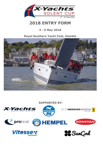 2018 ENTRY FORM