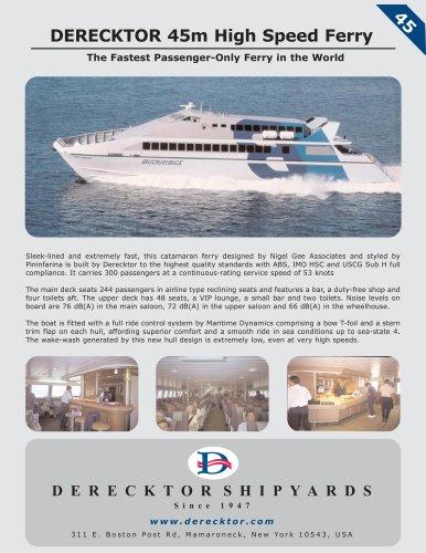 DERECKTOR 45m High Speed Ferry