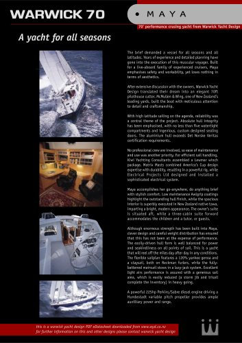 Sailing yacht brochure