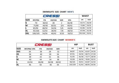 Swim Wear Chart