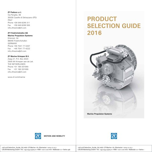 Product Selection Guide 2016