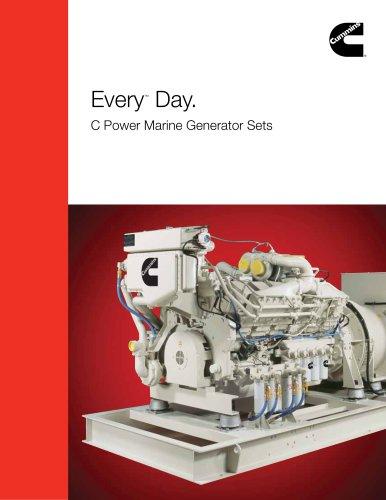 Every ™  Day. C Power Marine Generator Sets