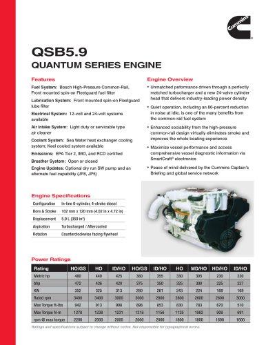 QSB5.9 Quantum SerieS engine