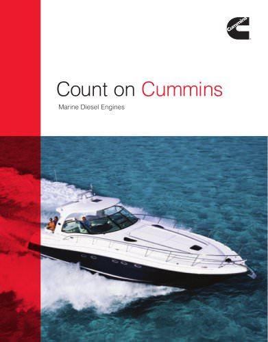 Recreational Marine Diesel Engines Brochure With Spec Sheet Inserts