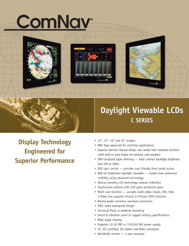 Daylight Viewable LCD C Series