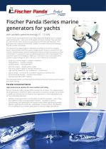Fischer Panda iSeries marine generators for yachts