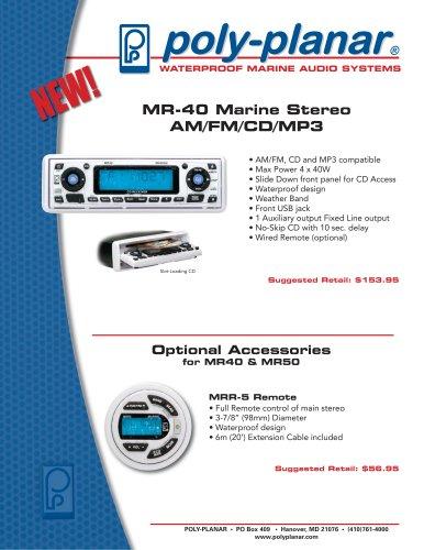 MR-40 Marine Stereo AM/FM/CD/MP3