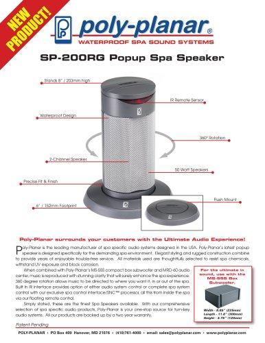 SP-200RG Popup Spa Speaker