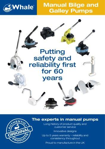 Manual Bilge and Galley Pumps