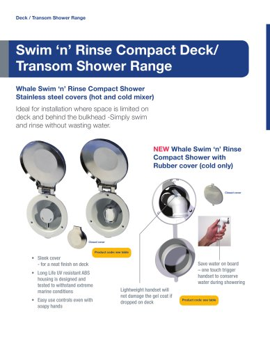 NEW Swim 'n' Rinse Compact Deck Shower